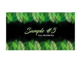 #10 para Design a palm tree/banana leaf pattern I can use for my product por imagencreativajp
