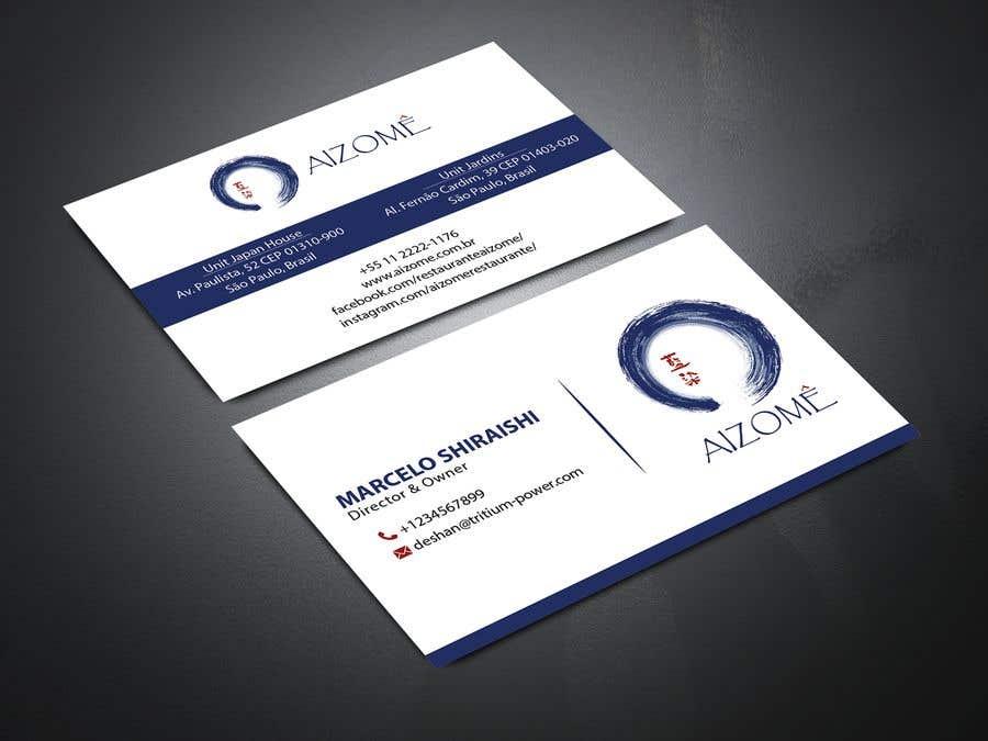 Kilpailutyö #251 kilpailussa Restaurant Business Card