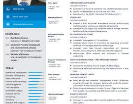 nº 6 pour Design a resume to assist job applications into the property sector par Androclesdaud