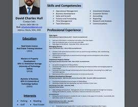 nº 14 pour Design a resume to assist job applications into the property sector par AkterGraphics