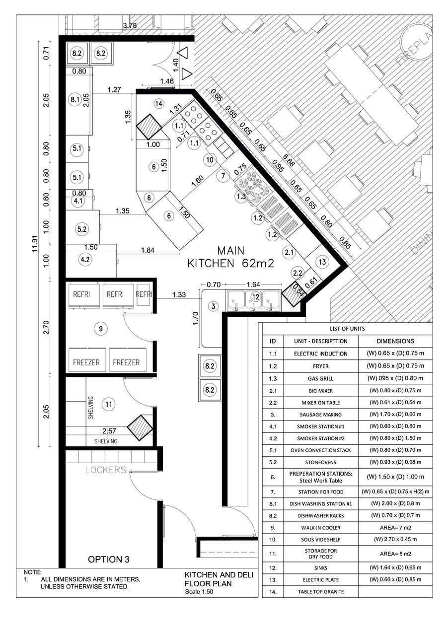 Inscrição nº 18 do Concurso para Kitchen and deli floor plan