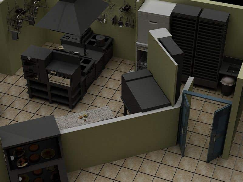 Contest Entry #19 for Kitchen and deli floor plan