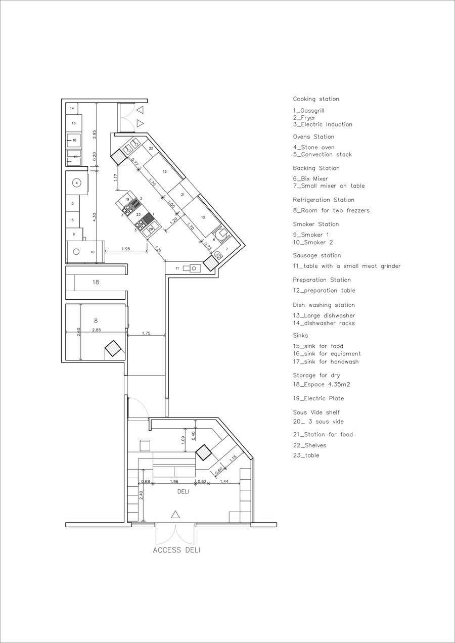 Contest Entry #12 for Kitchen and deli floor plan
