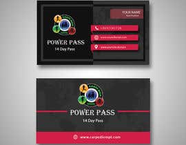 "Nro 15 kilpailuun A business card size ""Power Pass"" that I can hand out to local businesses that has ""14 day pass"" written on it with our details on the back. Phone Brad on 0437541728 email info@carpediempt.com käyttäjältä sumdas"