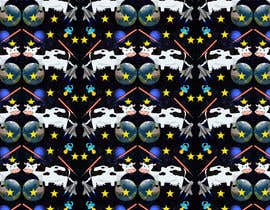 #4 untuk Create a seamless pattern of baby cows floating in space with background items oleh socialkik