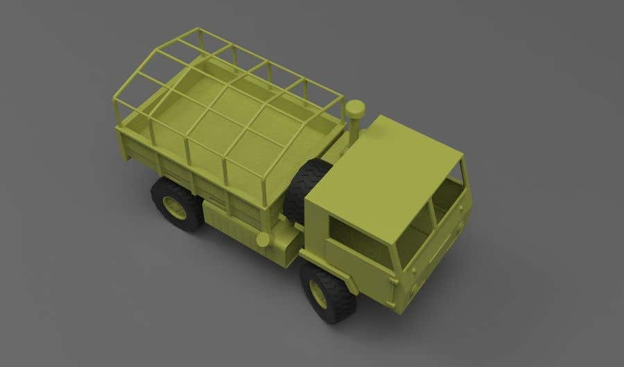 Inscrição nº 12 do Concurso para VEHICLE MODEL (3D PRINTABLE) FROM REFERENCE MATERIAL