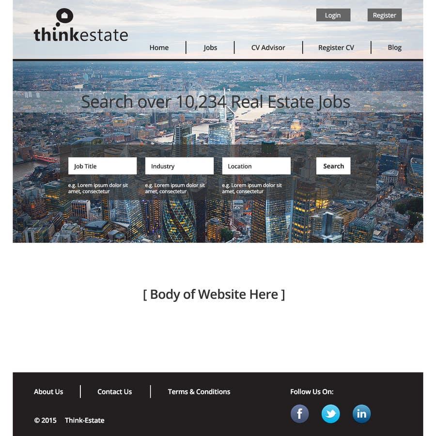 design a website mockup for a real estate job portal lancer 1 for design a website mockup for a real estate job portal by rikmon23