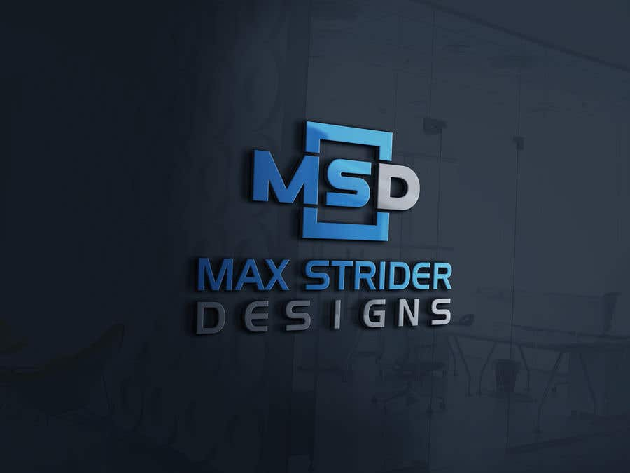 Конкурсная заявка №6 для I require a logo designed for a company called Max Strider Designs. We produce high end hand crafted products. Vector png and JPEG formats. Thank you.