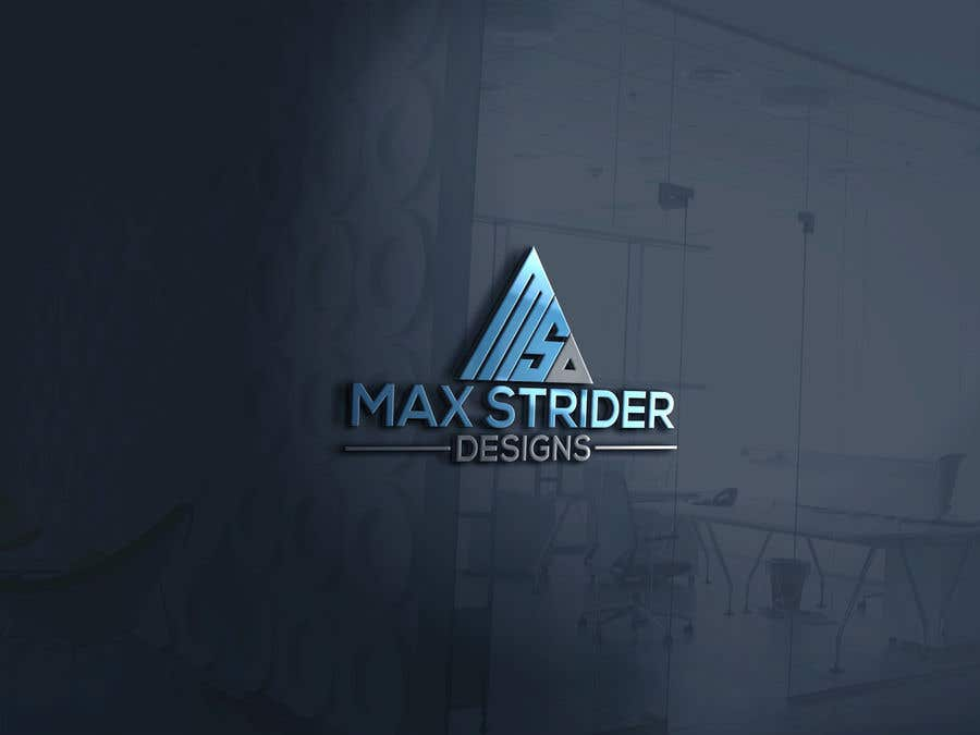 Конкурсная заявка №13 для I require a logo designed for a company called Max Strider Designs. We produce high end hand crafted products. Vector png and JPEG formats. Thank you.
