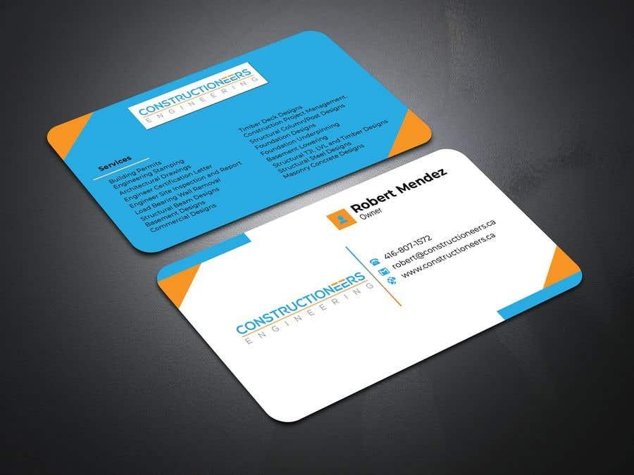 Kilpailutyö #47 kilpailussa Business Card Design for a Residential Engineering Company