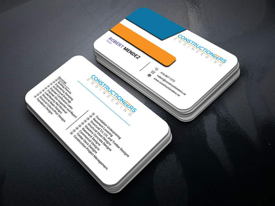 Kilpailutyö #45 kilpailussa Business Card Design for a Residential Engineering Company