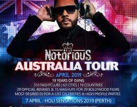 Nro 30 kilpailuun DJ Australia Tour Poster käyttäjältä satishandsurabhi