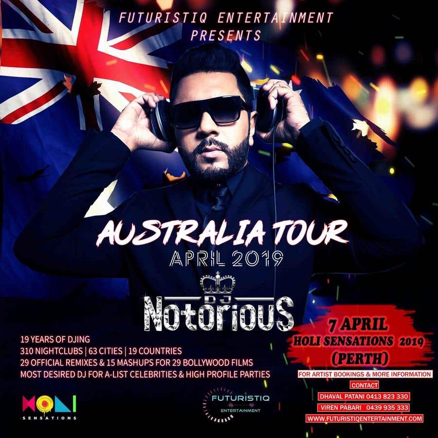 Конкурсная заявка №22 для DJ Australia Tour Poster