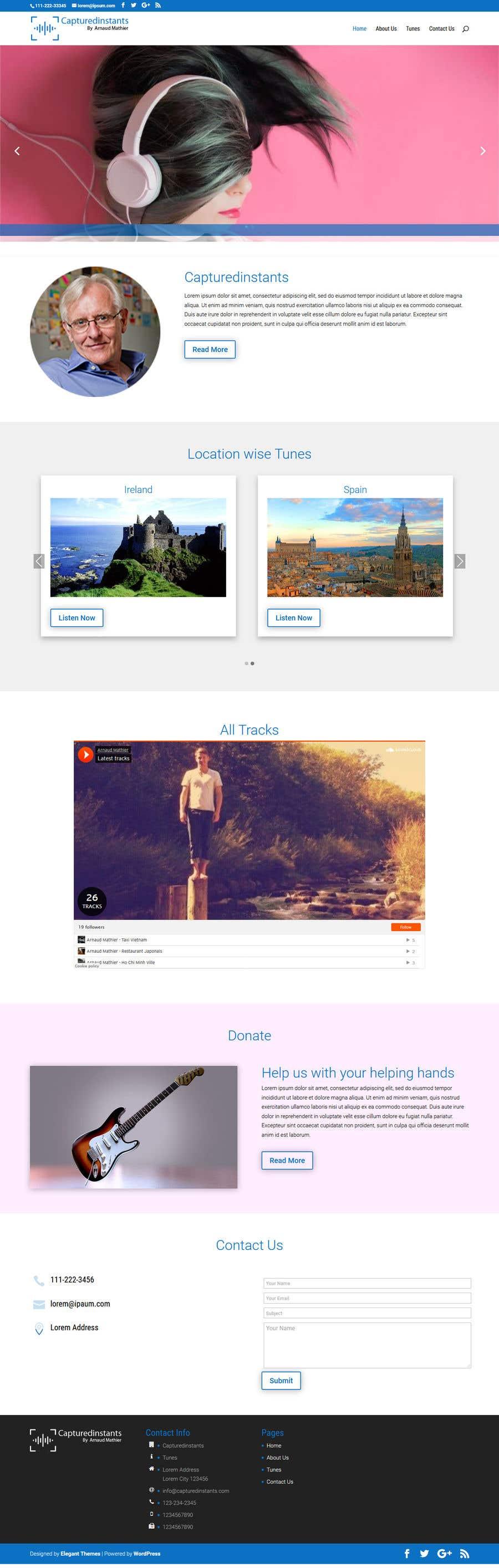 Proposition n°                                        18                                      du concours                                         Design & setup site web