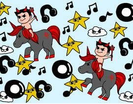 #25 for Create A Seamless Pattern of Baby Devils Riding On Evil Unicorns With Background Items Also by erickaeunicewebb