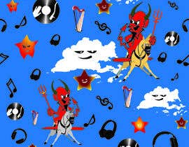 #18 for Create A Seamless Pattern of Baby Devils Riding On Evil Unicorns With Background Items Also by nobelium18