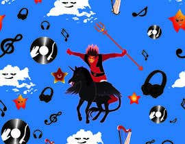 #19 for Create A Seamless Pattern of Baby Devils Riding On Evil Unicorns With Background Items Also by nobelium18