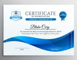 #8 untuk Award Certificate - 10/03/2019 13:38 EDT oleh thtoufiq