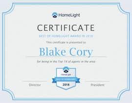 #9 untuk Award Certificate - 10/03/2019 13:38 EDT oleh esucre27