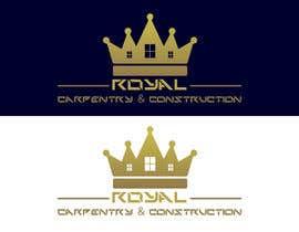#13 untuk I need a logo designed for: Royal Carpentry & Construction oleh BreakingBrand