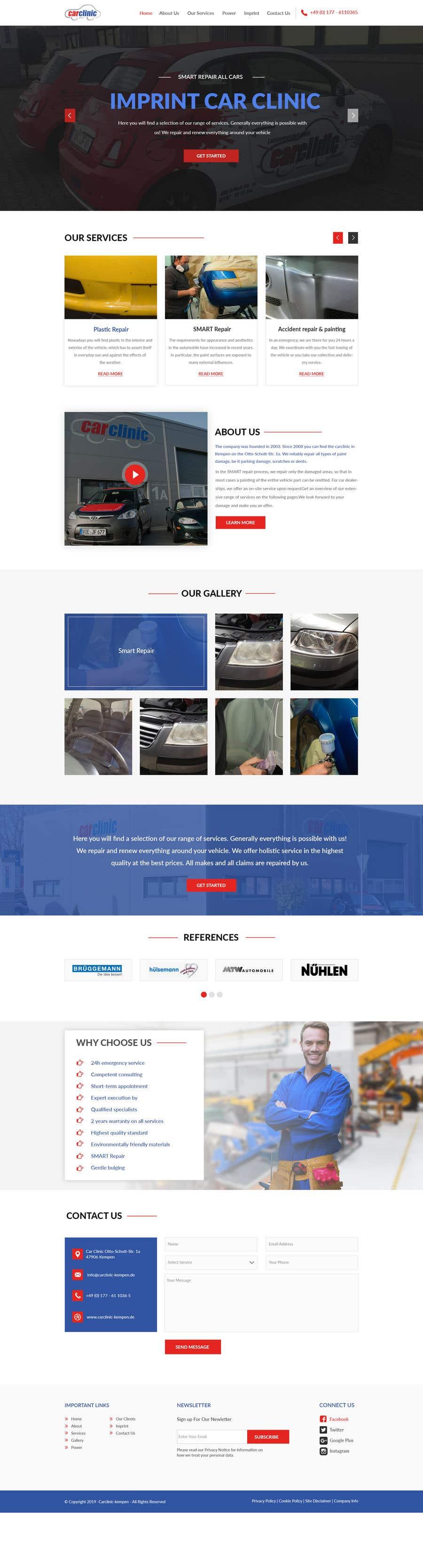 Konkurrenceindlæg #7 for Webdesign Car Painter