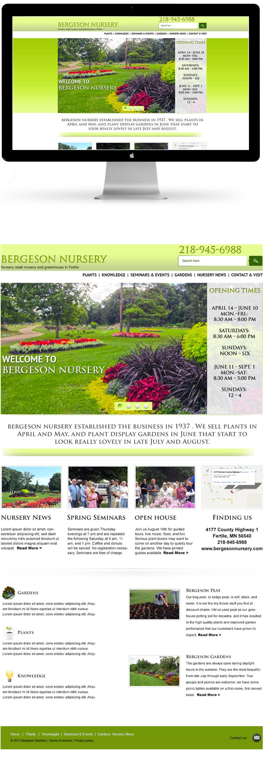 #17 for Design Inspiration for Bergeson Nursery Website by Alexw1
