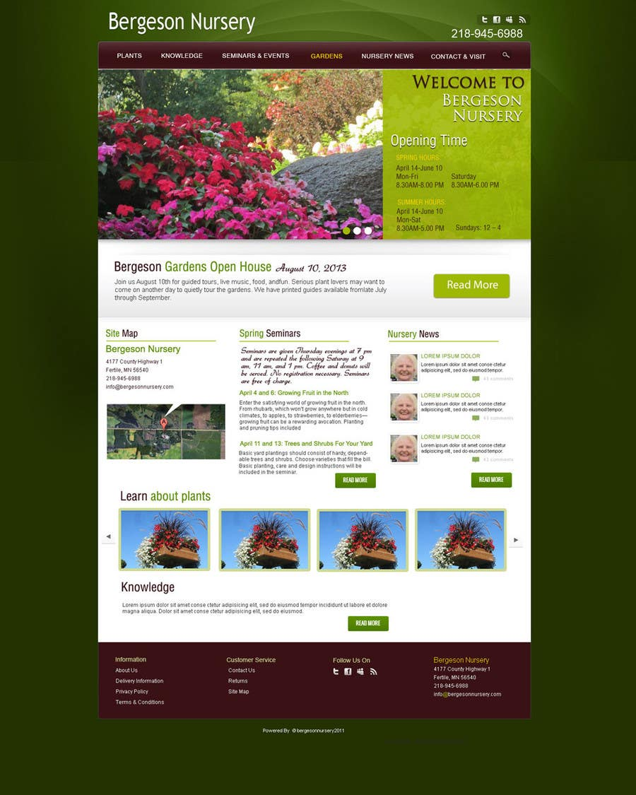 #19 for Design Inspiration for Bergeson Nursery Website by NierSolutions