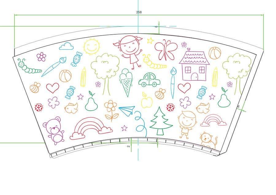 Konkurrenceindlæg #14 for Artwork Design for a paper cup for kids