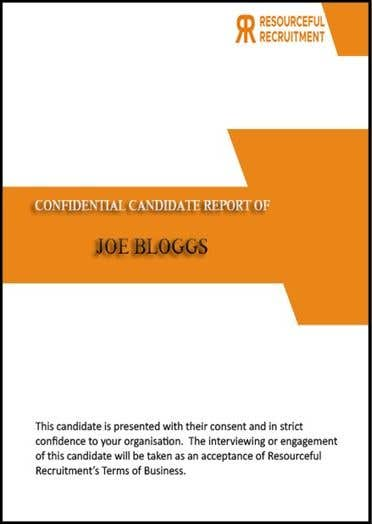 Inscrição nº 9 do Concurso para Update the front page of Candidate Report Template (Word doc)