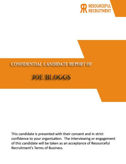 Inscrição nº 10 do Concurso para Update the front page of Candidate Report Template (Word doc)