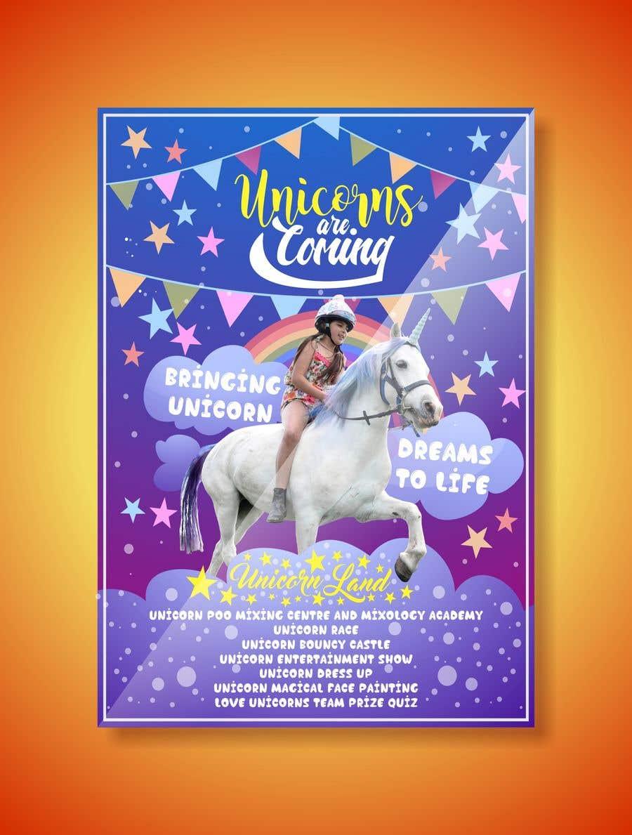 Proposition n°142 du concours Flyer Design Kinds Unicorn Event