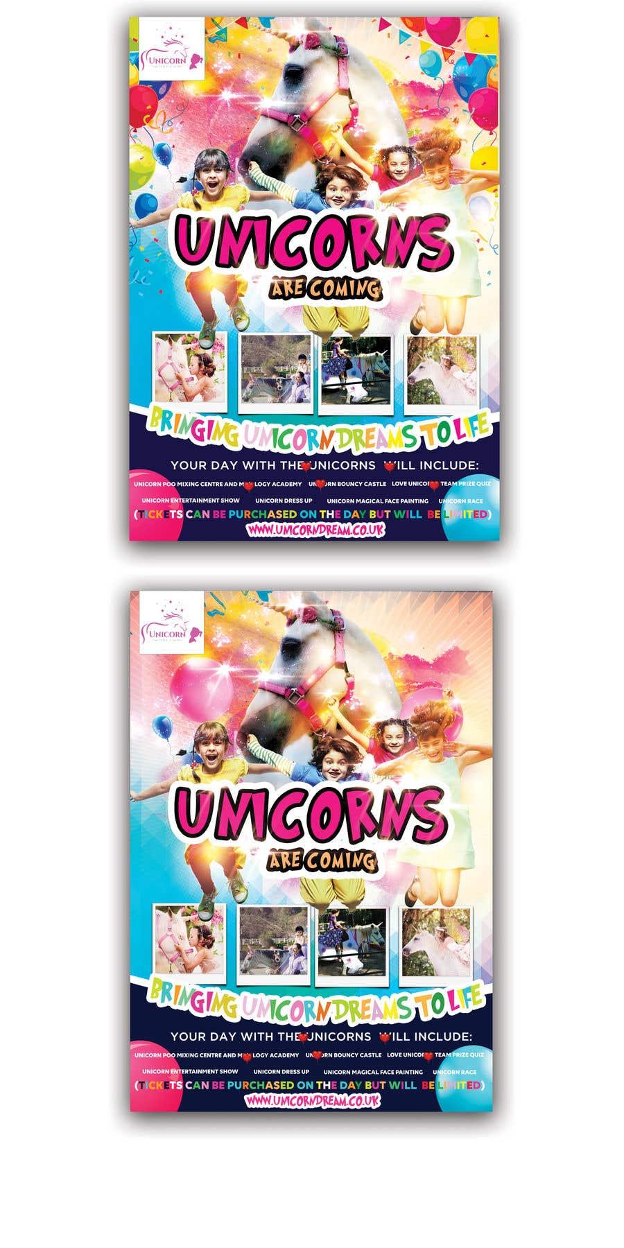 Proposition n°204 du concours Flyer Design Kinds Unicorn Event