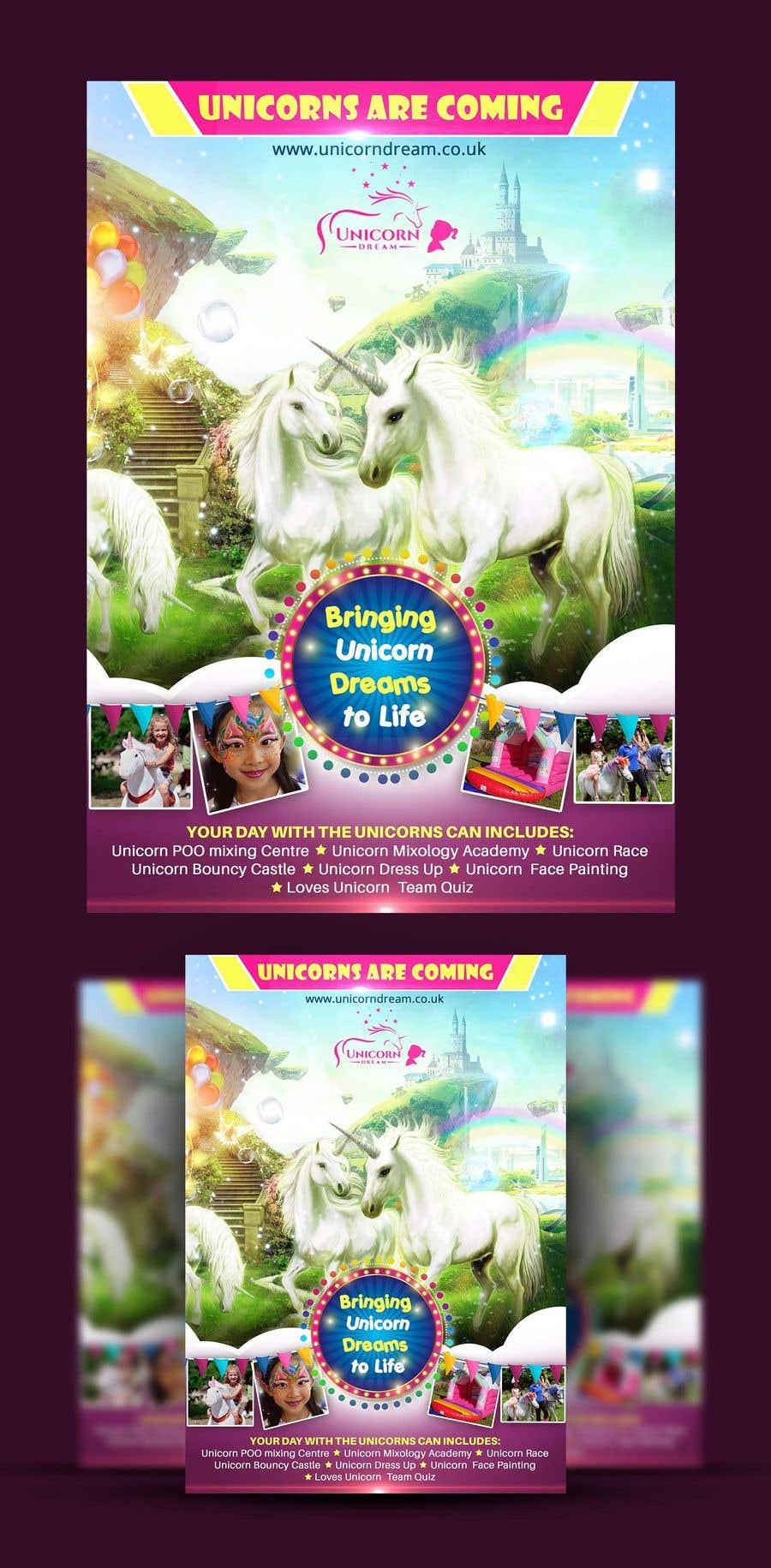 Proposition n°216 du concours Flyer Design Kinds Unicorn Event