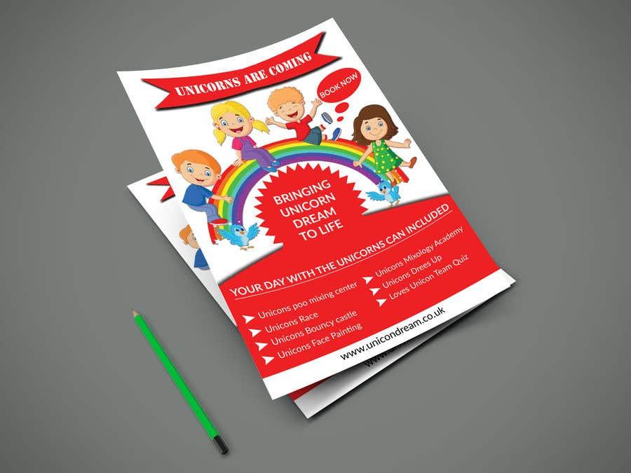 Proposition n°101 du concours Flyer Design Kinds Unicorn Event