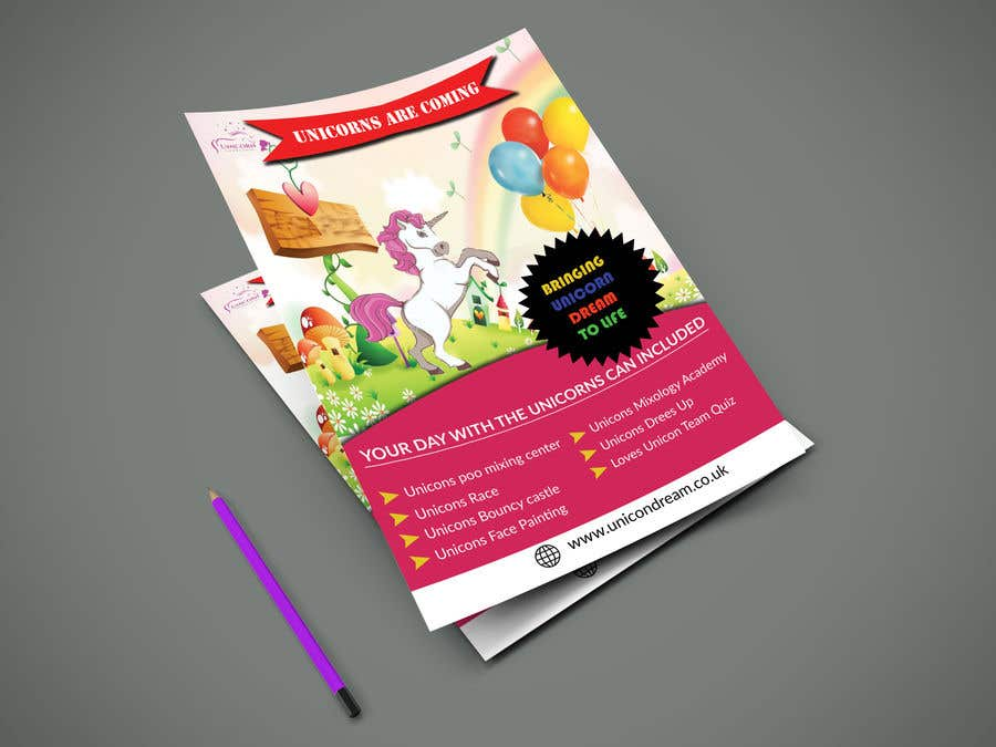 Proposition n°175 du concours Flyer Design Kinds Unicorn Event