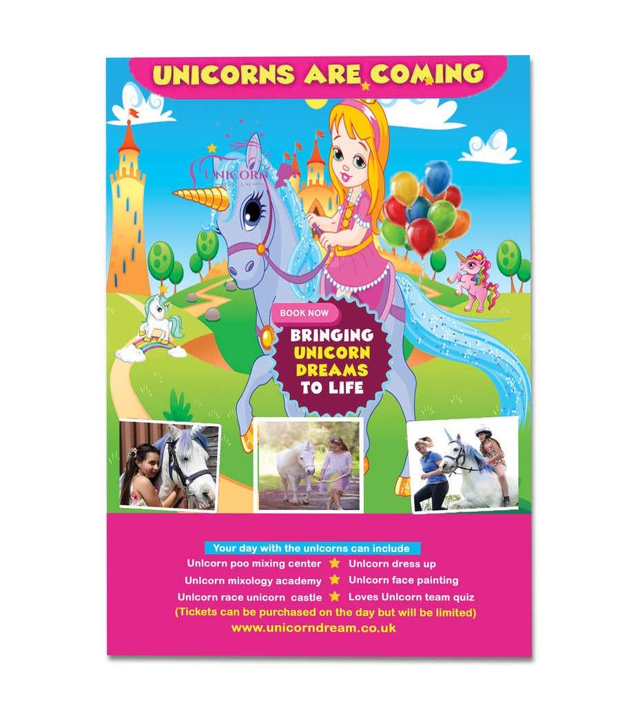 Proposition n°241 du concours Flyer Design Kinds Unicorn Event