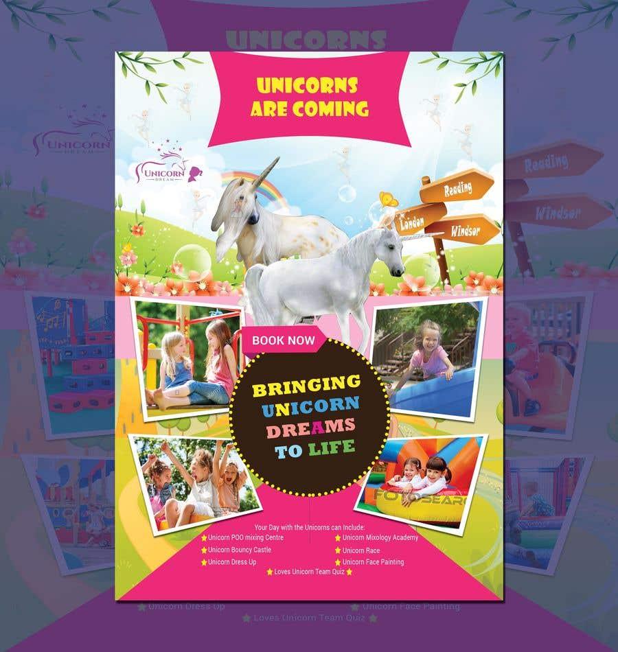 Proposition n°225 du concours Flyer Design Kinds Unicorn Event