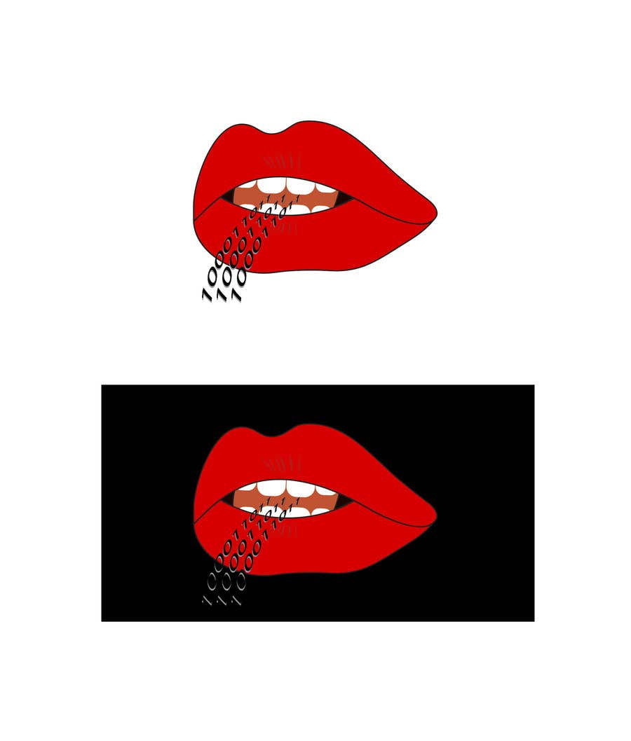 Konkurrenceindlæg #128 for Create a Logo of lips speaking binary code that follows the Golden Ratio