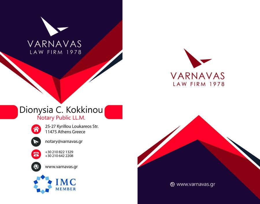 Penyertaan Peraduan #718 untuk Design new business cards for law firm