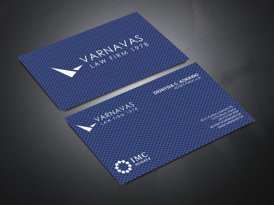 Penyertaan Peraduan #613 untuk Design new business cards for law firm