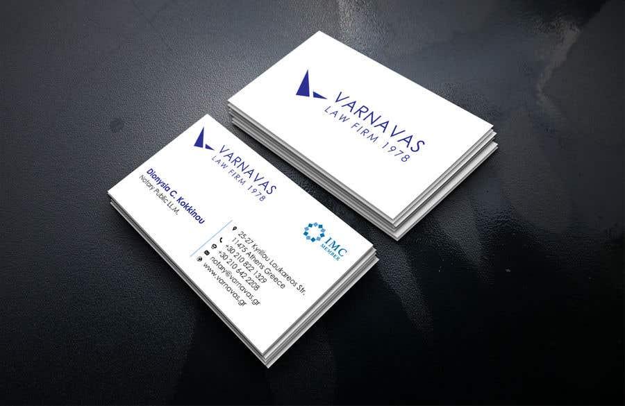 Penyertaan Peraduan #152 untuk Design new business cards for law firm