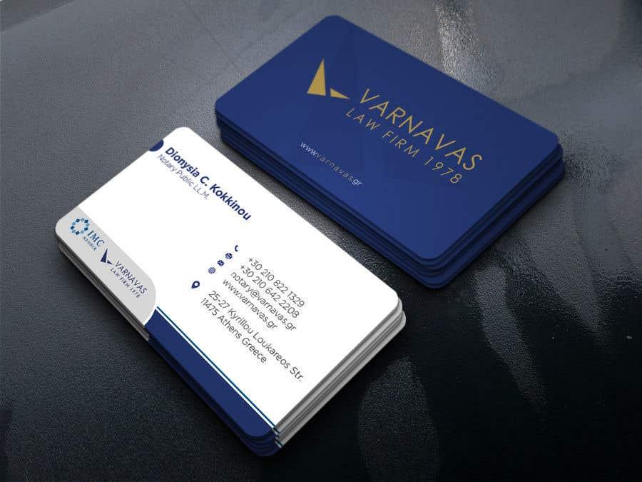 Penyertaan Peraduan #180 untuk Design new business cards for law firm