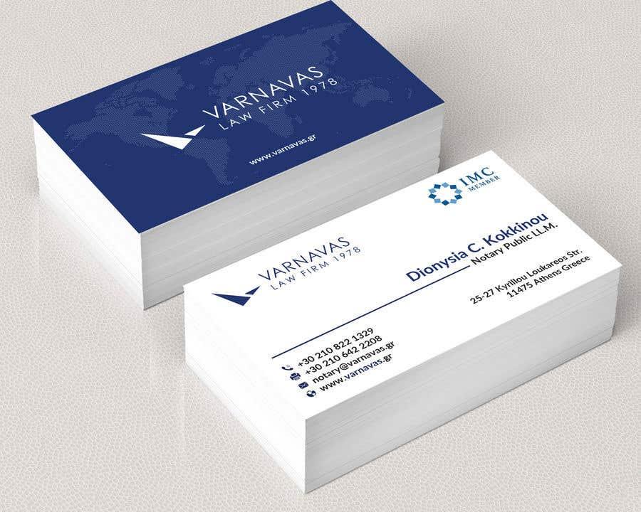 Penyertaan Peraduan #744 untuk Design new business cards for law firm