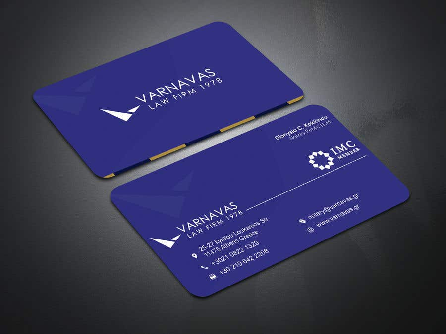 Penyertaan Peraduan #812 untuk Design new business cards for law firm