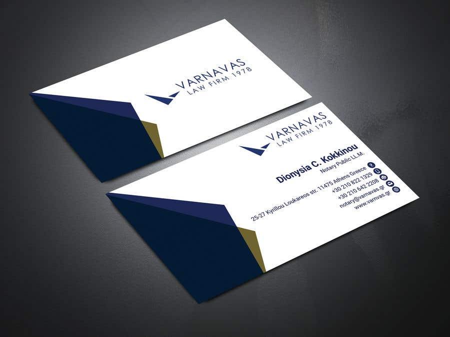 Penyertaan Peraduan #643 untuk Design new business cards for law firm