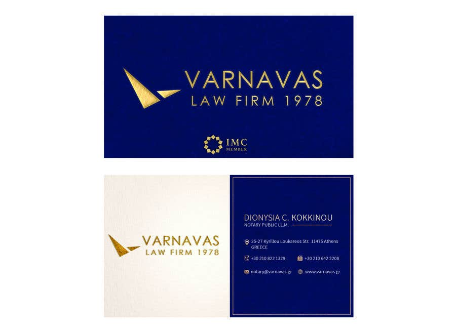 Penyertaan Peraduan #649 untuk Design new business cards for law firm