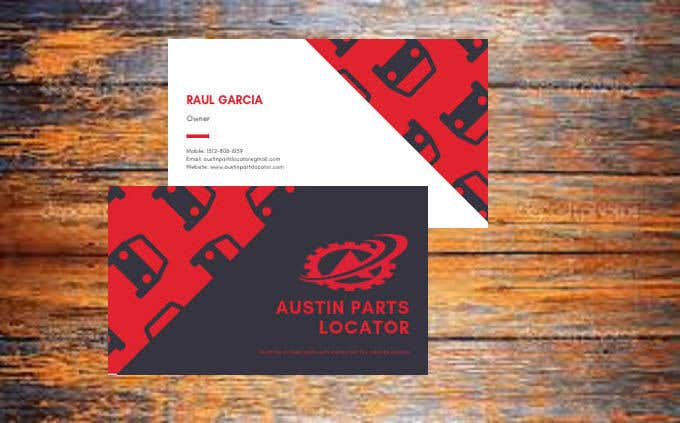Konkurrenceindlæg #399 for Design Business Cards For Car Parts Company
