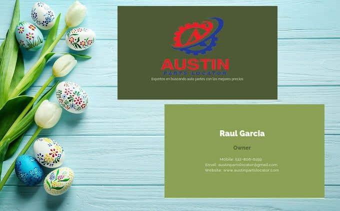 Proposition n°409 du concours Design Business Cards For Car Parts Company