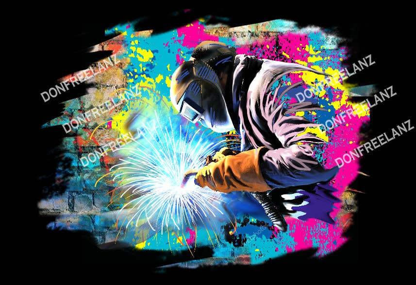 Entry 5 By Donfreelanz For Commission For Graffiti Style Welder Logo Advertisement For Truck Wrap Freelancer