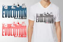 Graphic Design Entri Peraduan #36 for Illustration for T-Shirt: Evolution of a Poker Player (From Whale to Shark to Poker Player Using a Different Animals)